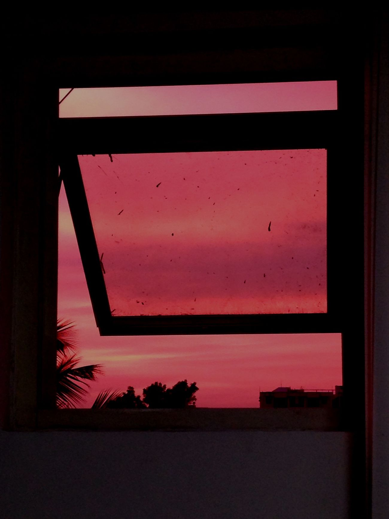Shades of pink! Evening Sky Windows View Shades Of Nature
