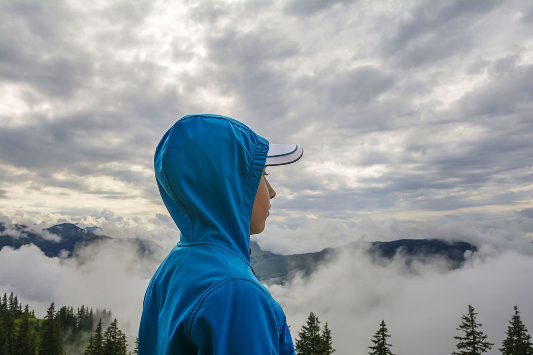 Fog in the mountains, Kitzbuhel Alps, Tirol, Austria Alps Amazing Austria Awesome Beauty In Nature Blue Cloud - Sky Clouds Destination Dramatic Sky Kitzbühel Landscape Mountain Nature One Person Outdoors People Real People Scenery Scenics Tirol  Tourism Tourist Travel Young Adult