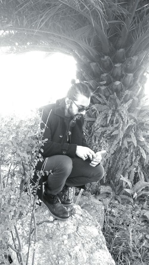 Monochrome Pipe Smoking Nature