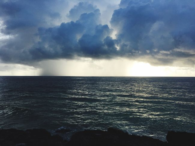 Horizon Over Water Storm Storm Cloud Stormy Weather Storm Clouds Tulum , Rivera Maya. Tulum Mexico EyeEm Sky Lover Eyeem Travel Eyeem Clouds Tulum Mexico Water Sea Cloud Sky Seascape Waterfront Eyeem Storms