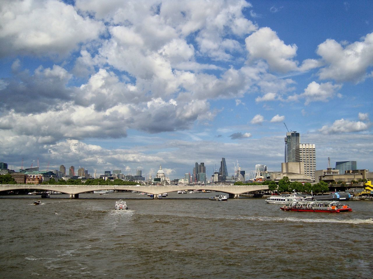 A view of the London skyline and the river Thames Architecture Built Structure City City Of London City Of London Tourism Cityscape Cloud - Sky London London Skyline LONDON❤ Modern River River Thames River Thames Skyline Sky Skyscraper St Paul's Cathedral St Pauls Cathedral Thames Thames River Tourism Tourist Attraction  Tourist Destination Urban Skyline Water