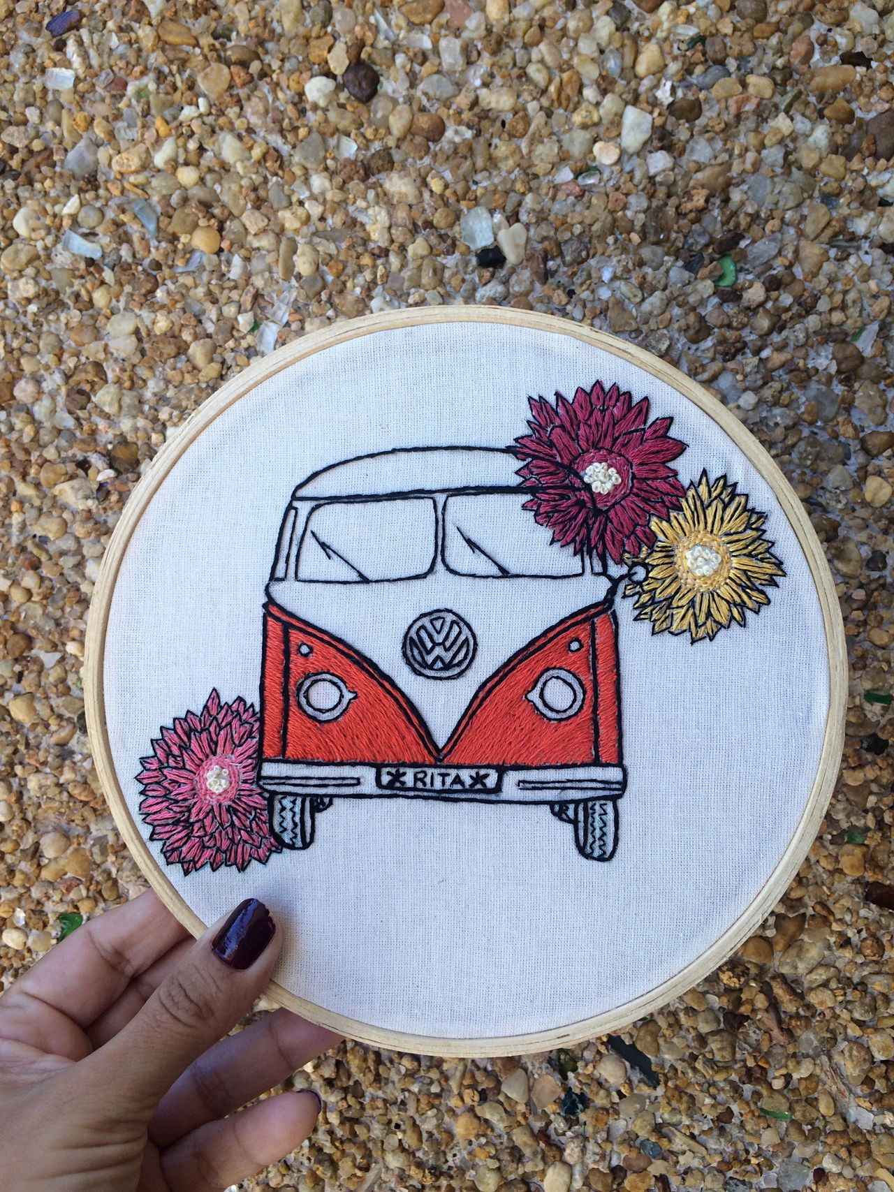 Human Hand Creativity One Person Holding Outdoors Drawing - Art Product Day Red Close-up Flower Craft Embroidery Artisan Kombi