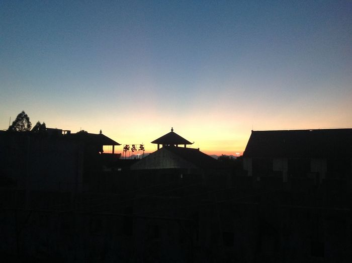 Architecture ASIA Building Exterior Built Structure City City Life Copy Space Dark High Section No People Orange Color Outdoors Romantic Sky Scenics Silhouette Sky Spire  Sunset Town