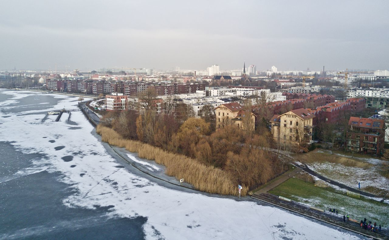 Rummelsburger See, Berlin Cold Temperature Outdoors Rummelsburger Bucht Rummelsburger See Snow Winter