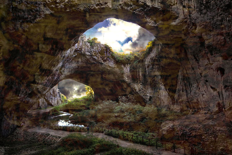 Cave Devetashka, Bulgaria Bulgarian Nature Journeys Travel Photography Amazing Nature Beauty In Nature Bulgaria Cave Europe European Journey Geology Landscape Natural Arch Nature Outdoors Physical Geography Rock - Object Rock Formation Scenics Sky Tranquil Scene Tranquility
