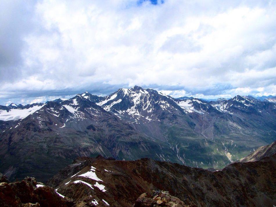 Alpen Mountain Alpen Mountain Mountain View Snow E5 Alps Alpenpanorama Panorana Alpenüberquerung Mountains Berge
