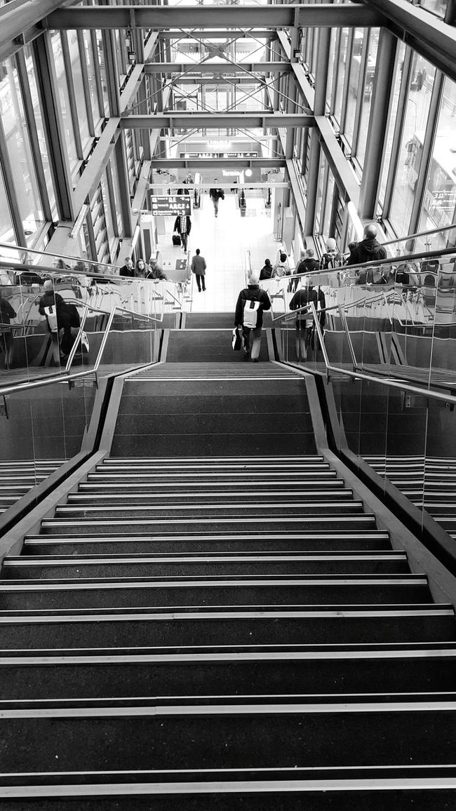 Built Structure Architecture Indoors  Men Airport Stairs Staircase Stairways Stair Stairway On The Way Frankfurt Am Main Frankfurt Airportphotography