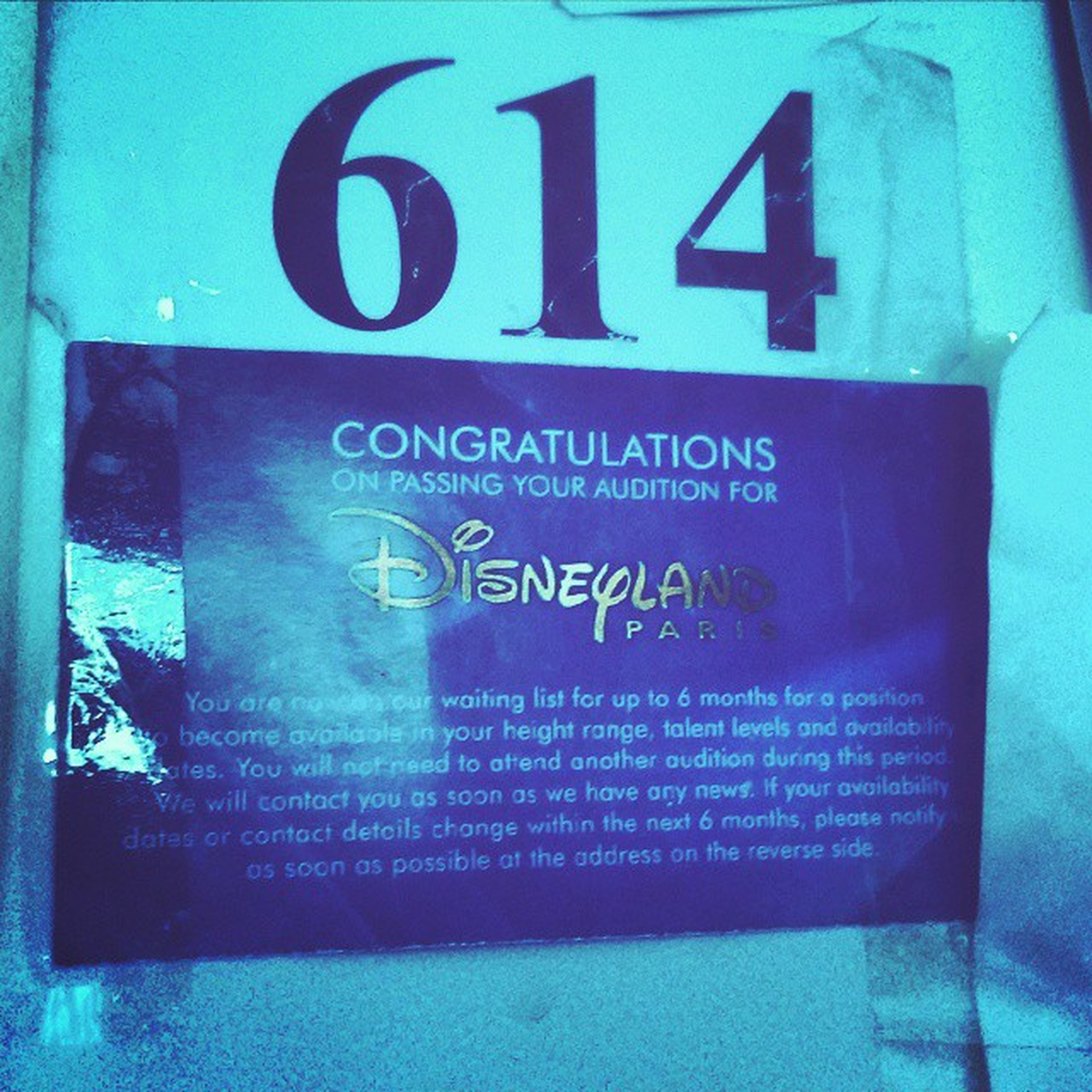 So excited! Got through 25/400 woopeee !!! 😝😝😝 Disneyauditions Disneyauditions2015 Happy Talent Number Audition Today Yay Proud Love Dance Acceptance Mean Judges 💙