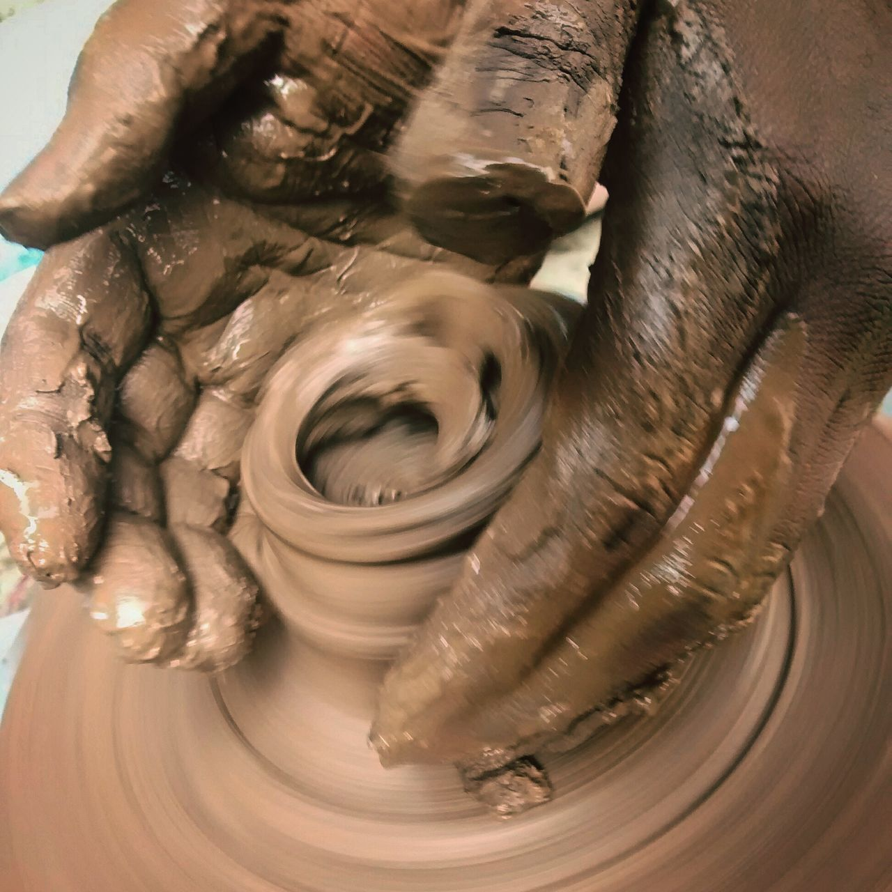 Pottery .. Precision Artist At Work Art Beautiful Hands