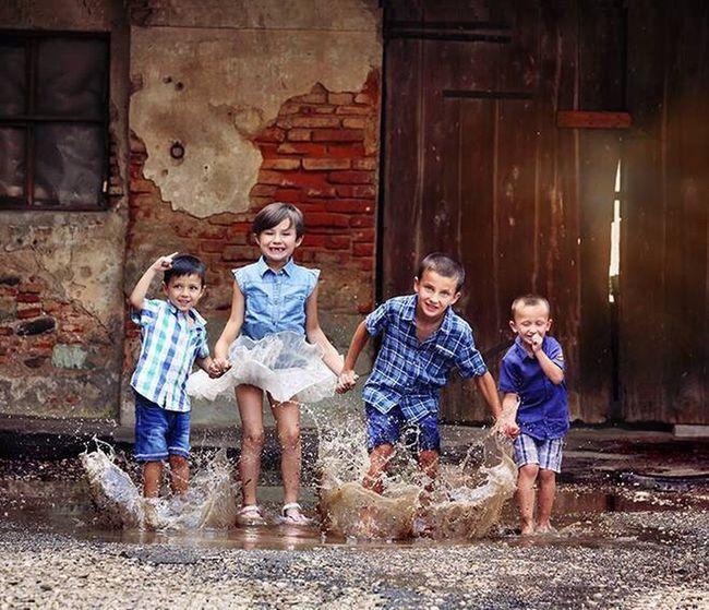 Rain Playing In The Rain Children Photography Children Childrens Children_collection