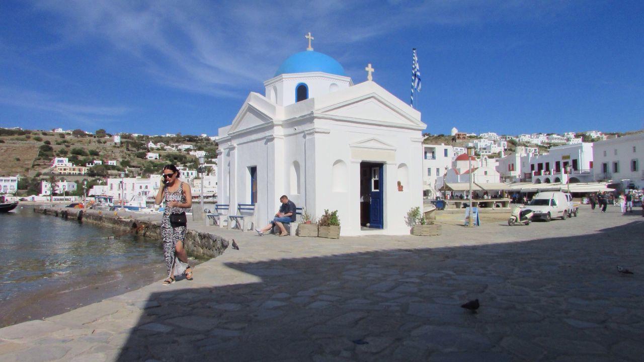 Greece GREECE ♥♥ Mykonos Churches Church Historical Sights Travel Photography