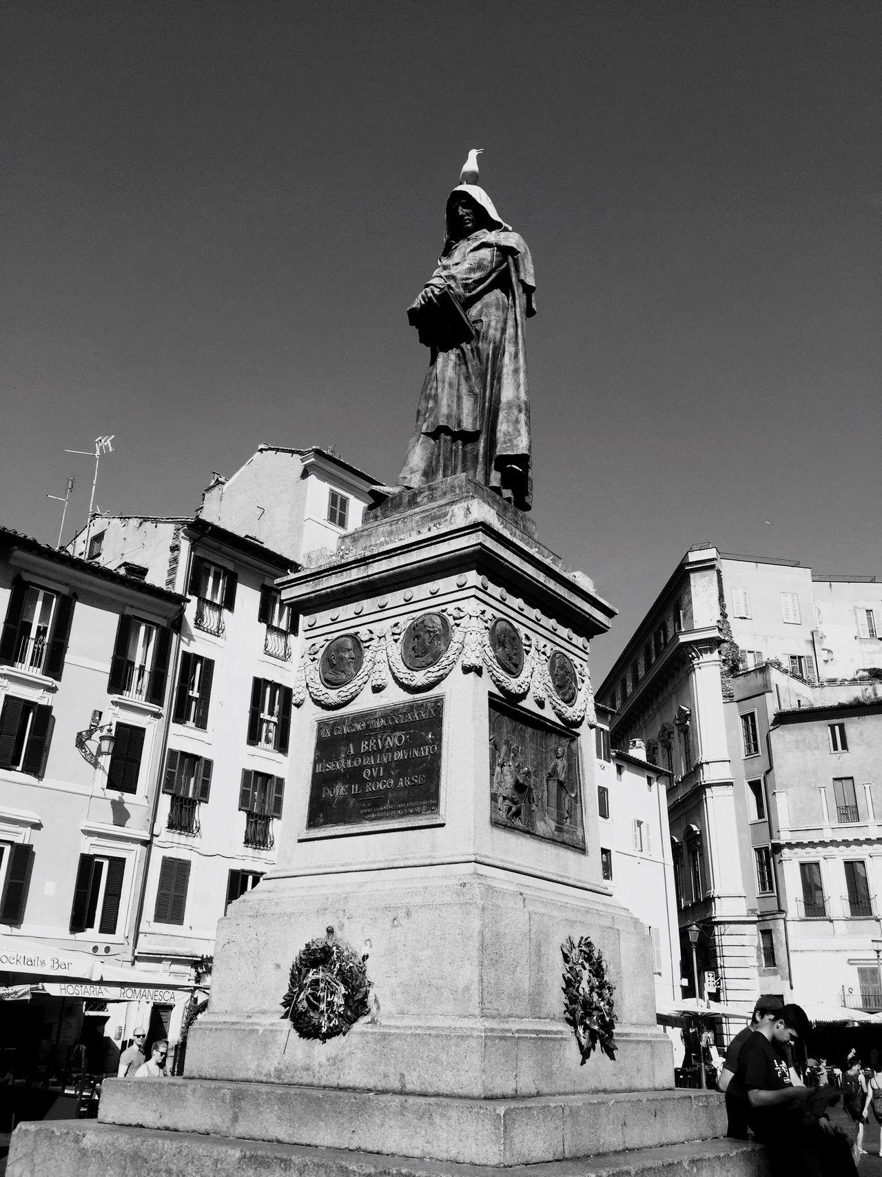 Giordano Bruno Walking Around Rome Roma Square