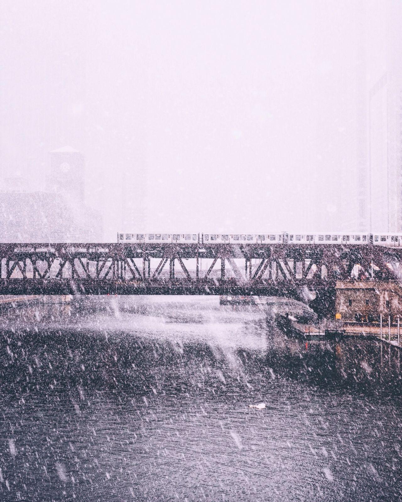Built Structure No People Architecture Bridge - Man Made Structure Winter EyeEm Best Shots Chicago Snow Lake Effect