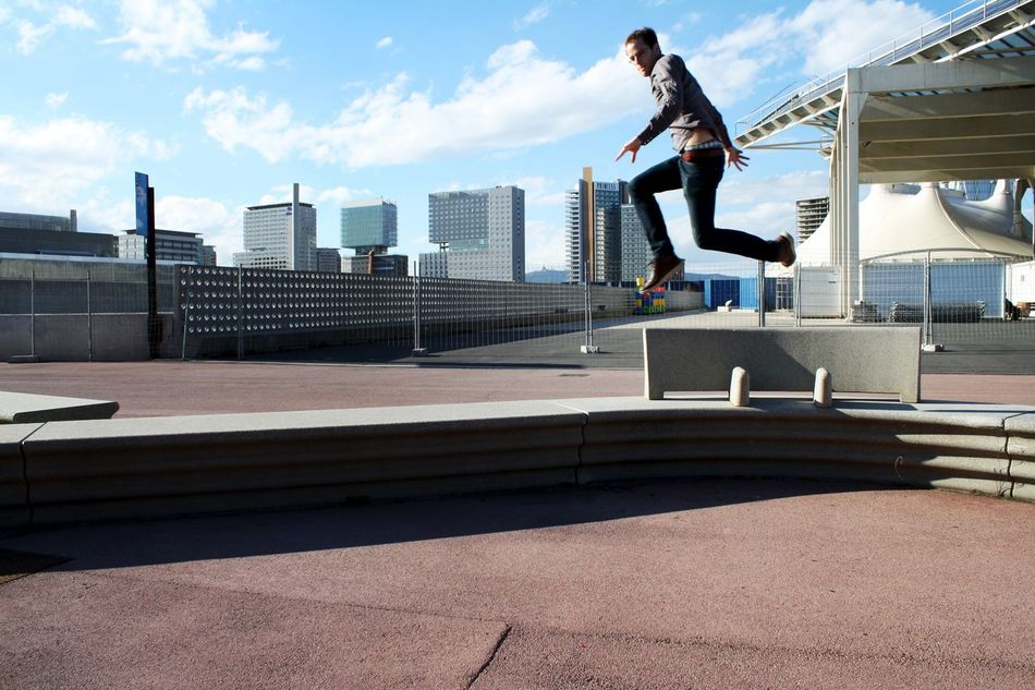 Beautiful stock photos of jump, Activity, Architecture, Building Exterior, Built Structure