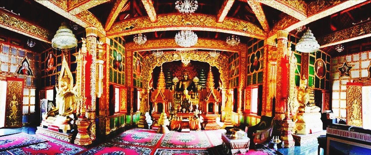 The area inside the Buddhish Temple Wat Phra Buddhabart Si Roy Mae Rim , Chiang Mai , Thailand. Travel Photography Iphonephotography Panorama Thailand Chiang Mai   Thailand EyeEm Best Shots Hello World Temple Thailand_allshots IPhoneography