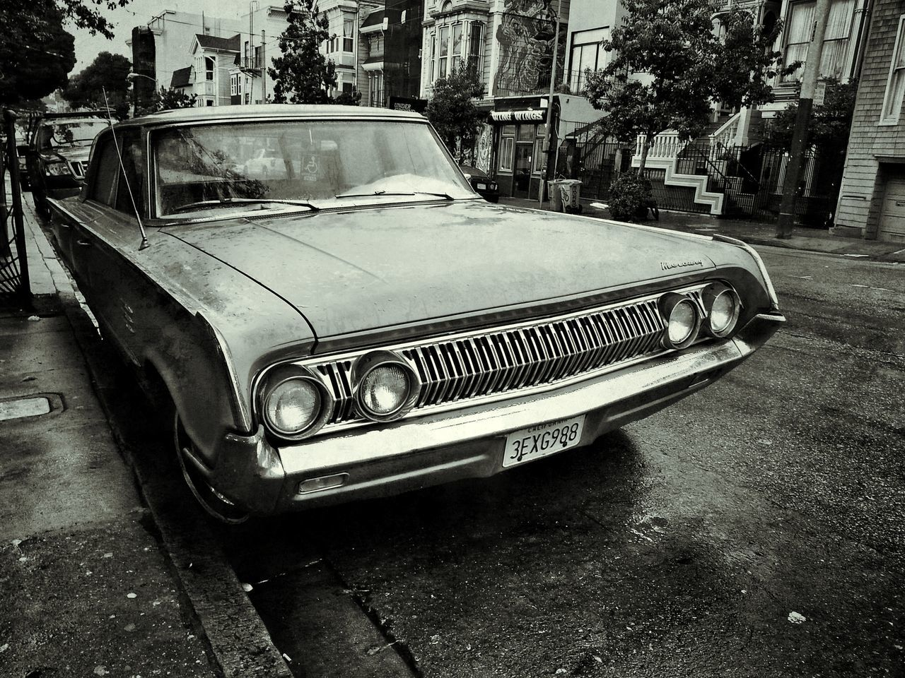 Mercury...Classic Car 1964 Mercury Montclair Monochrome Lower Haight