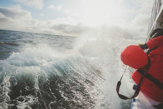 Splash! Whale Trail Tour Norway Norwegian Sea Boat Trip Waves Crashing