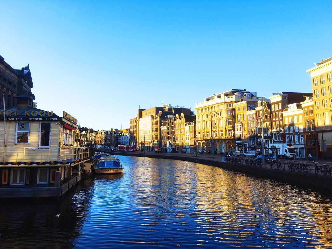 Bomdia Good Morning Amsterdam Morning Sky Sunshine Blue Sky Old Buildings Houses Water Boats Boat Canal City City Life Cityscapes Bikes Streetphotography Street Street Photography Holland Netherlands Taking Photos Enjoying Life Showcase June
