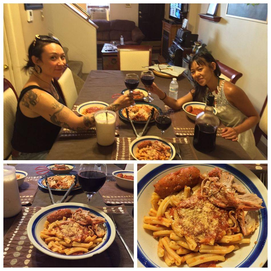 Last night, I made casarecce with hot Italian sausage and pork roast. Served with our 2014 Italian Amarone wine. ICanCookMyAssOff ItsAnItalianThing Gravy Pasta HomemadeItalianWine Nomnombomb Food Porn Awards MyFoodPics Food Porn