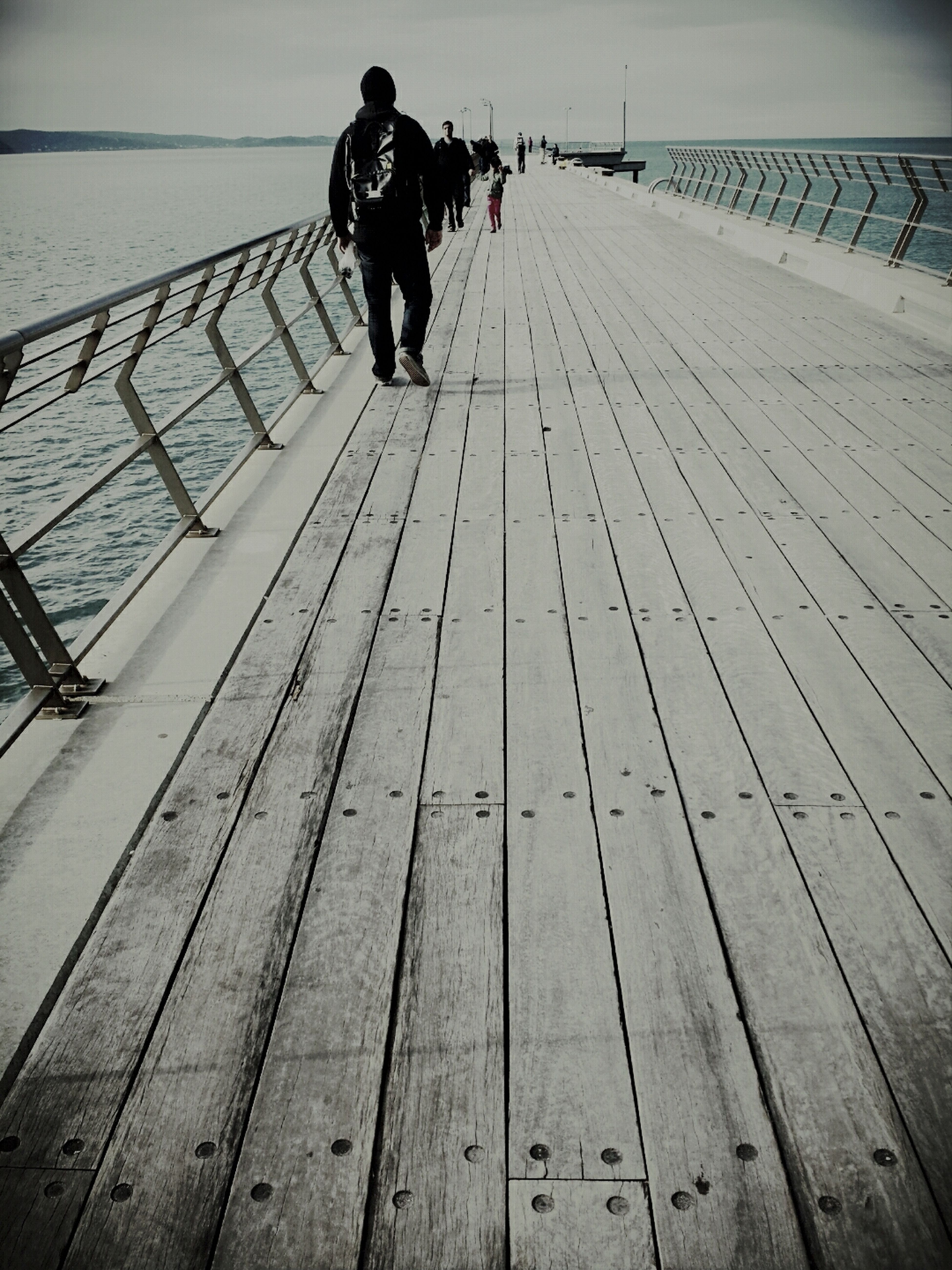 No matter whats gonna happened, ill away Walking With You Till The End Pier With My Boyfriend <3