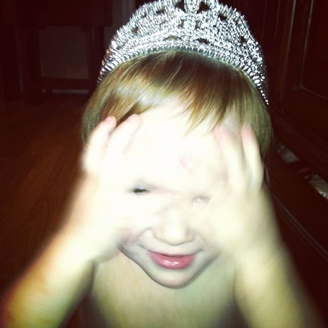 This will be a blackmail photo when he gets older! Crown Auntbethanysprince Adorableness
