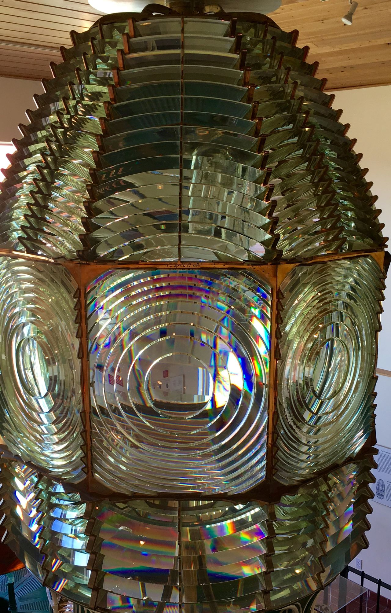 Antique Lens from Ponce Inlet Lighthouse Lots Of Glass Hugh Glass Lens