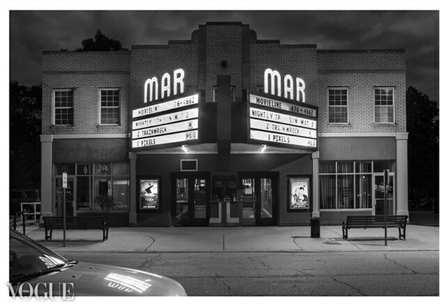 Along route 66 is this beautiful place. The mar theater. Have to see in Illinois. Also got accepted on photovogue :) Night Nightphotography Blackandwhite Architecture Photovogue Route 66 Wilmington Illinois
