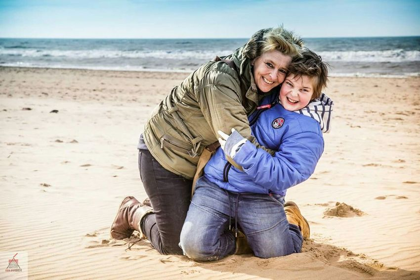 We Are Family Canon Photography Canon5dmarkiii Mother And Son Beach Sea Colorful