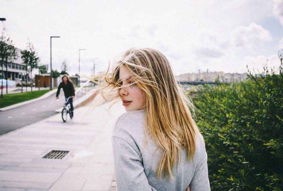 Beautiful stock photos of road, Beautiful, Bicycle, Blonde Hair, Caucasian