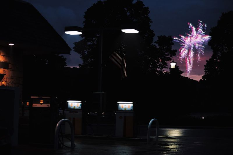 Even in the darkest places we shed light. Night Illuminated Firework Display Exploding Firework - Man Made Object Arts Culture And Entertainment Celebration Tree Sky No People Outdoors Firework USA American Flag Independence Day 4th Of July EyEmNewHere First Eyeem Photo