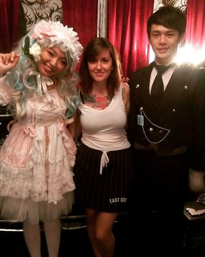 Thought I was being brave going into a haunted house... It was Lolitamansion KAWAII Oceanparkhk Questionablename Socute Friendlyhauntedhouse Halloween Halloween2015 HongKong