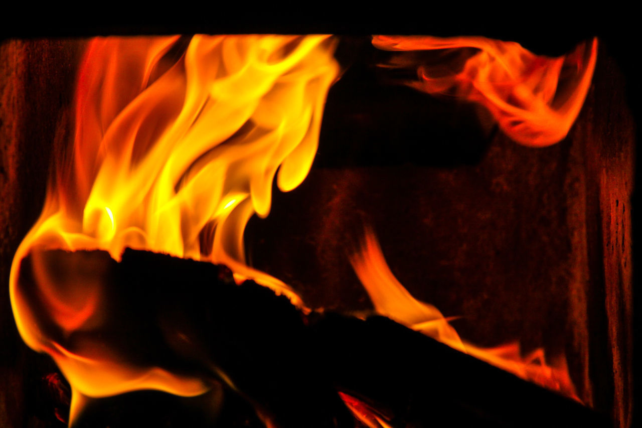 Fire - abstract Burning Close-up Danger Flame Heat - Temperature Indoors  Motion Nature Night No People