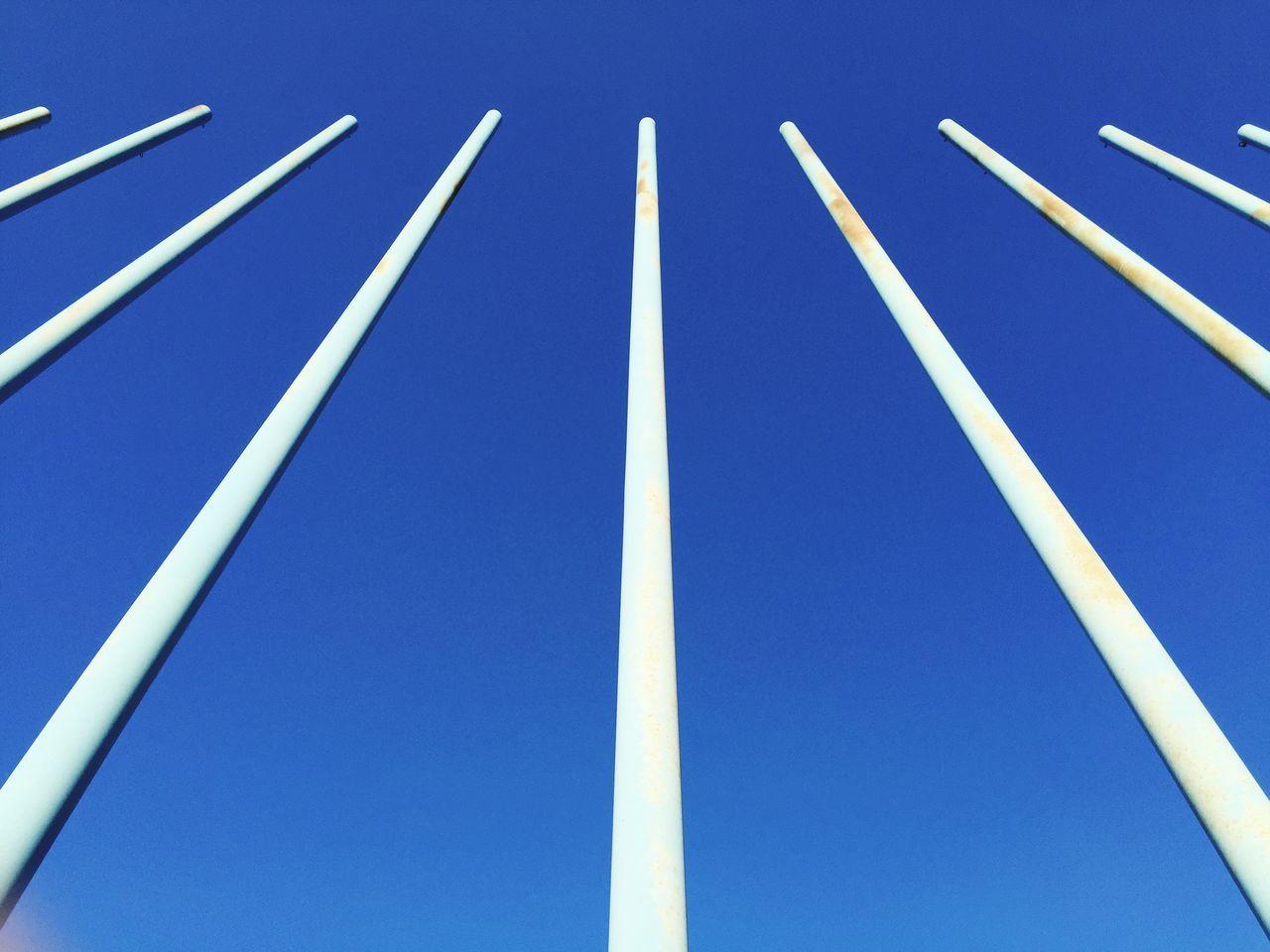 Cobalt Blue By Motorola Smart Simplicity Lines Endlessness Blue Sky OpenEdit