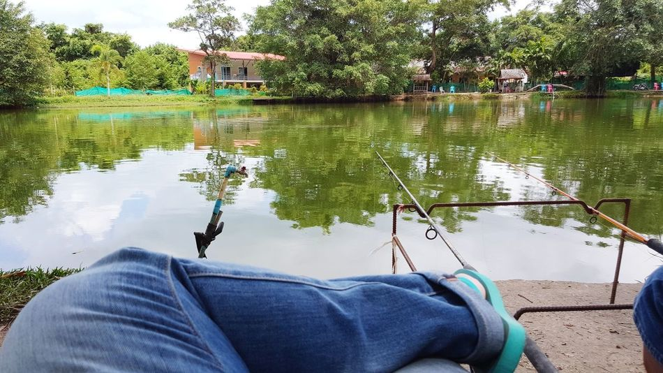 Freshwater Fishing Freshwater Lake Hot Day Sitting