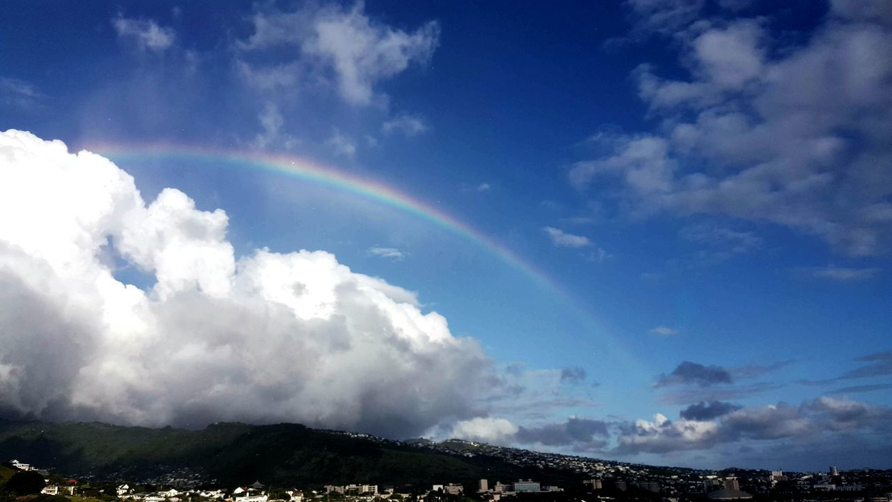 Somewhere over the ranbow- sky Honolulu  Hawaii Nature Beauty Outdoor Beauty Tranquility city Landscape Islandstyle Enjoying Life The Essence Of Summer ArtWork Capture The Moment Taking Photos