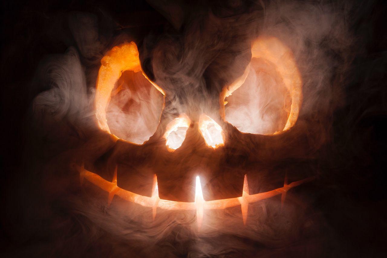 burning, heat - temperature, flame, no people, night, illuminated, close-up, indoors
