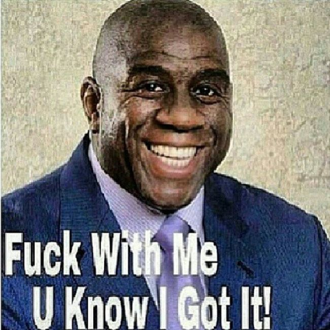 This is wrong but lmao! Magicjohnson Fuckwithmeyouknowigotit Aids Tag4tags like4likes