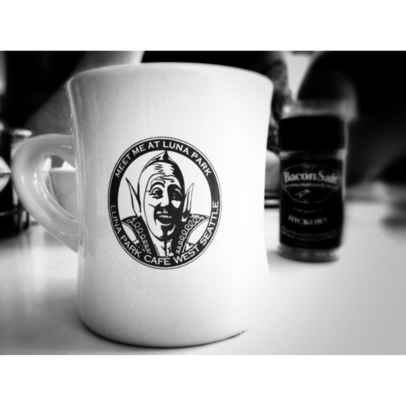 Lunapark Cafe Coffee Cup mug seattle igers_seattle bw