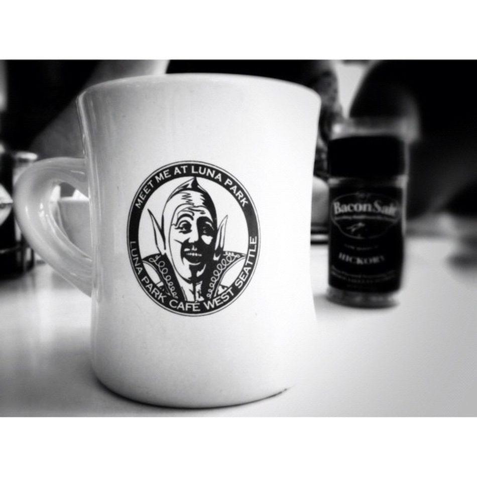 Lunapark Cafe Coffee Cup mug seattle igers_seattle bw
