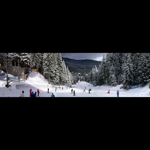 Harghita Bai Winter Ski Snowboarding Panorama Phoneography