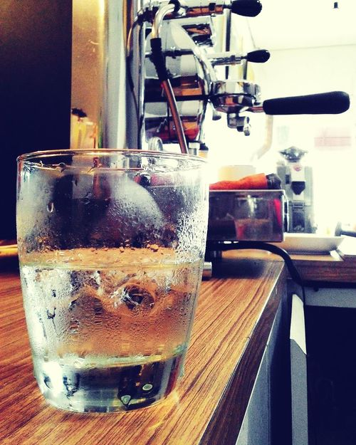 Mineral water not coffe