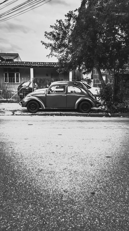Car Street City Old-fashioned Fusca Classic Car Classic Blackandwhite Black & White