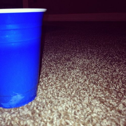 beer pong in MY new house. Beer Beerpong Solocup Blue nofurniture nattylight buzzed firsthouse 21 foreveryoung