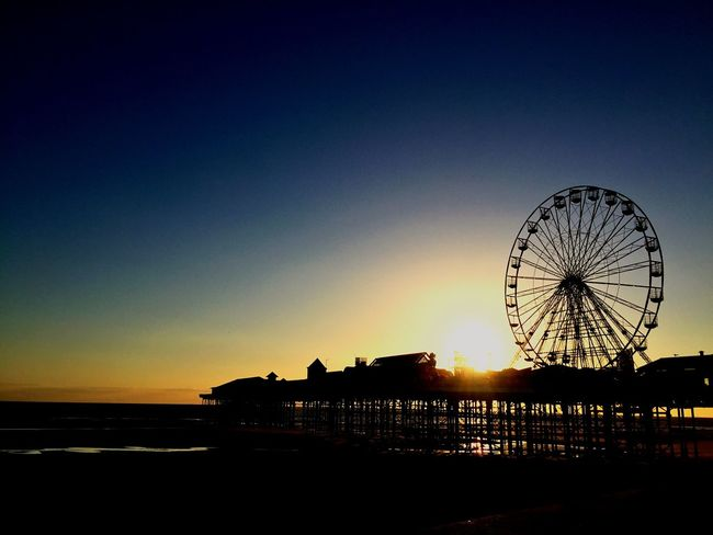 Blackpool Sunset Skyporn Enjoying Life Beach Sea From My Point Of View From Where I Stand Pier