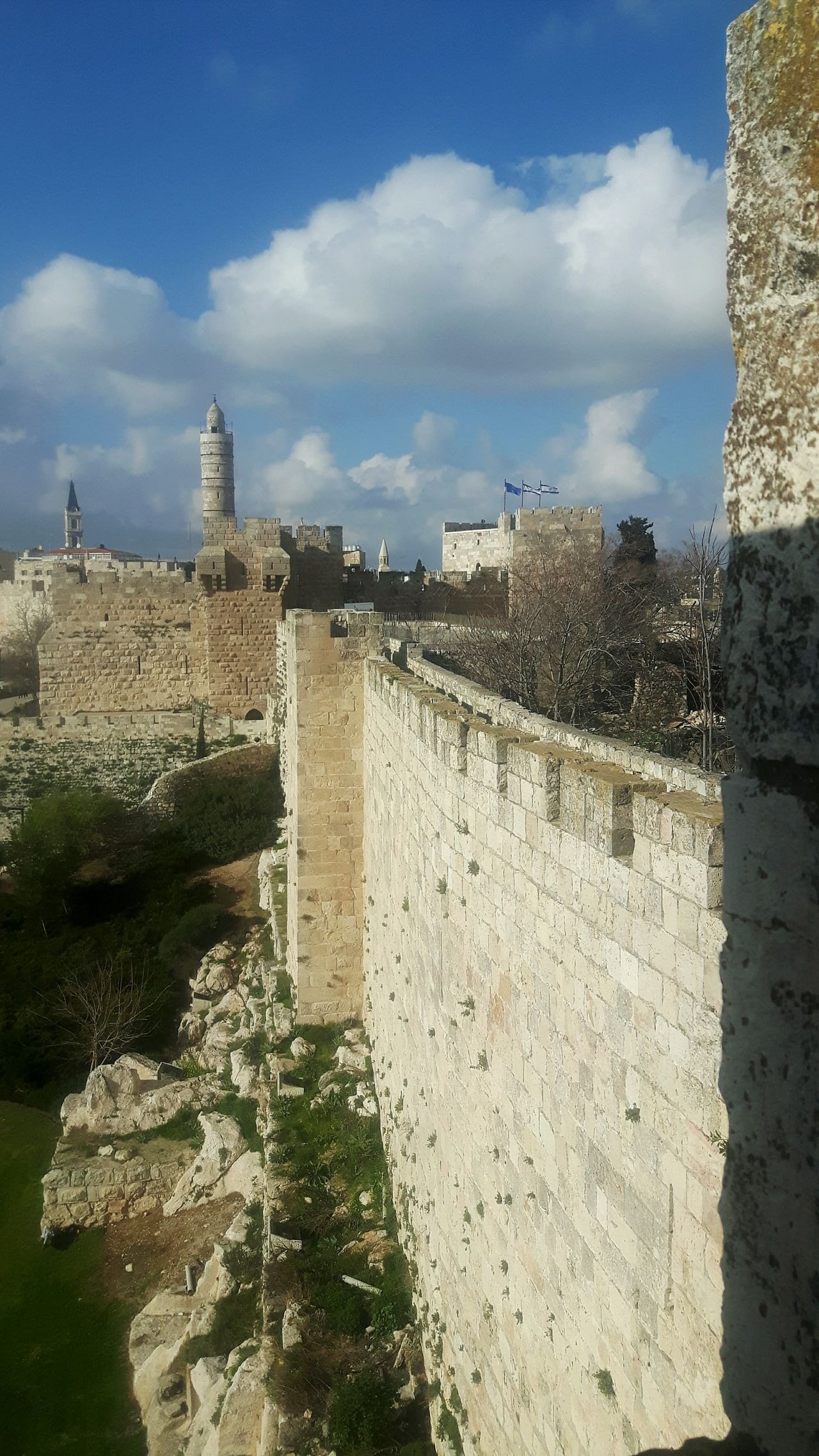 Jerusalem Israel Jerusalem Jerusalem City Wall Ramparts Rampartswalk Rampart King David Tower Jaffa Gate