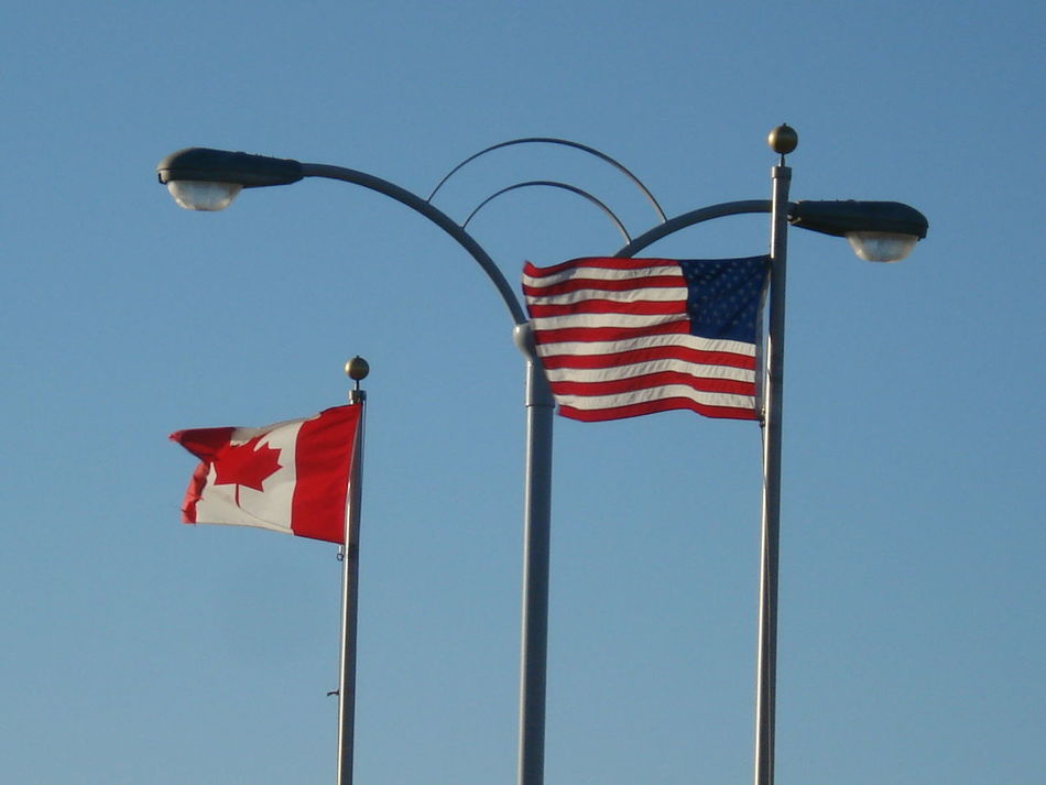 Beautiful stock photos of american flag, American Flag, Canadian Flag, Clear Sky, Cultures