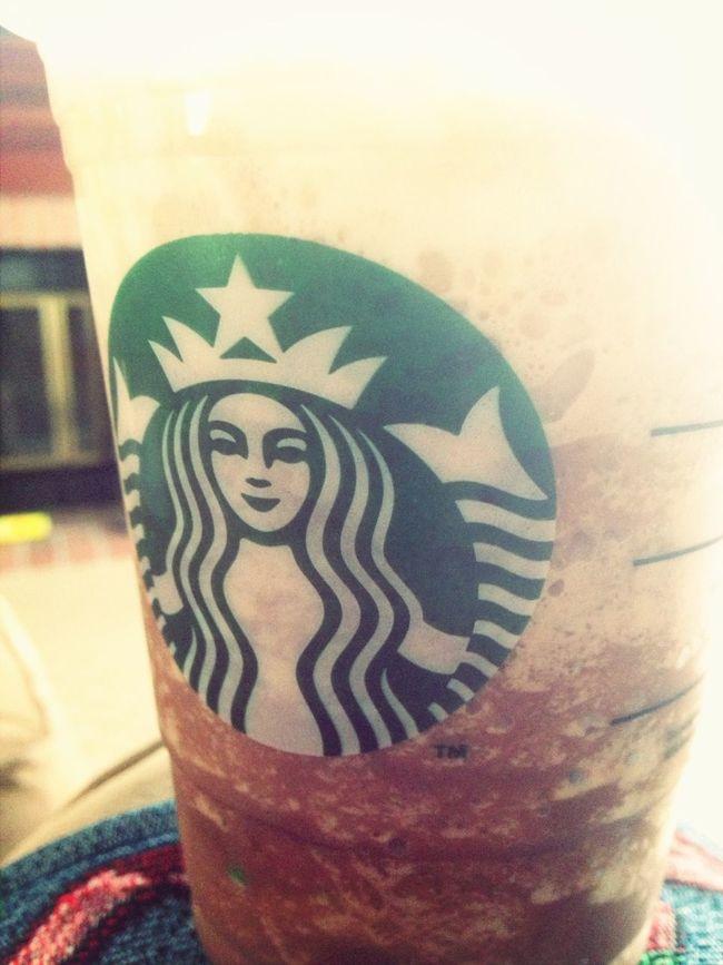Drinking Starbucks