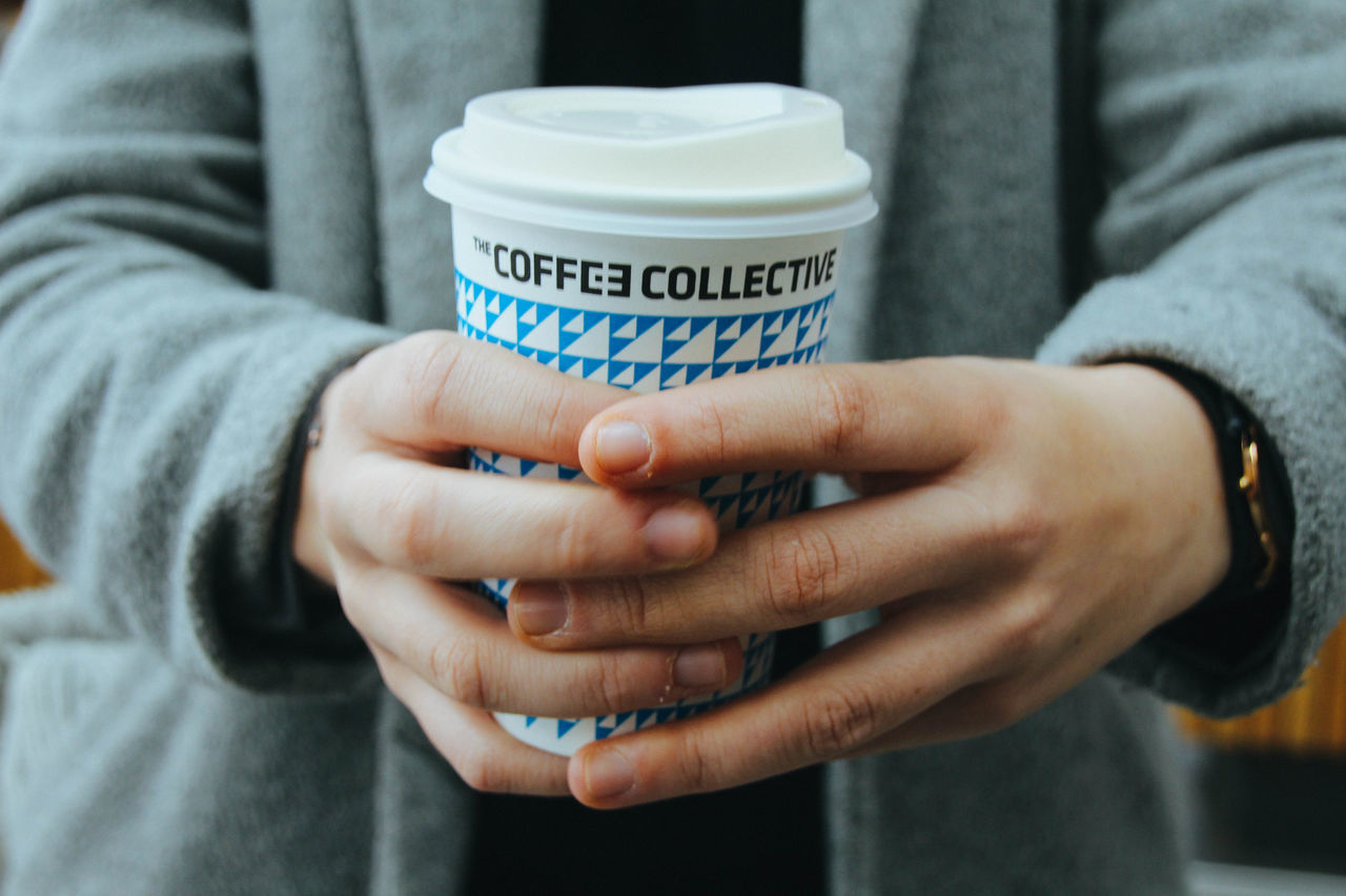 Close-up Coffee Copenhagen Day Holding Human Hand Lifestyles Midsection One Person Outdoors Real People Women