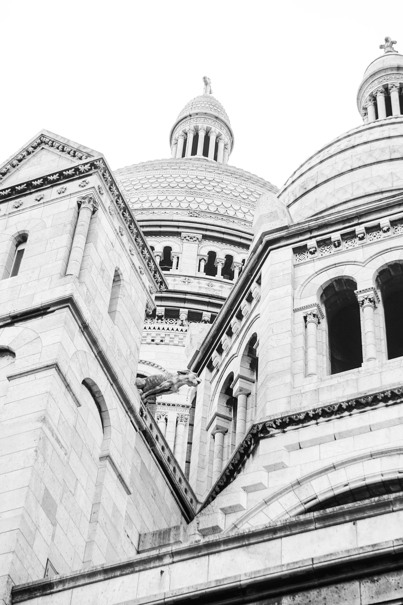 Architecture Low Angle View Montmartre Blackandwhite Zoom