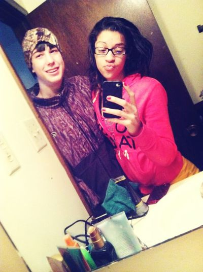 woke up to my baby(: love this white boy to deathhh!